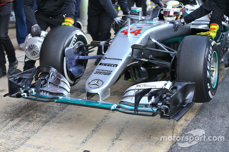 Detail Frontflügel, Lewis Hamilton, Mercedes AMG F1 Team W07