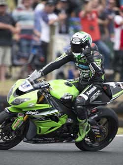 Il vincitore Randy Krummenacher, Puccetti Racing Kawasaki