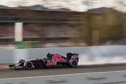 Max Verstappen, Scuderia Toro Rosso STR11, blokkerend wiel