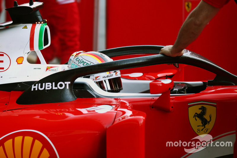 Sebastian Vettel, Ferrari SF16-H, con el Halo 1