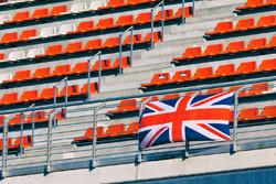 Britse vlag op de tribune