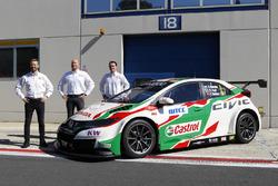 Tiago Monteiro, Rob Huff, Norbert Michelisz, Honda Racing Team JAS, Honda Civic WTCC