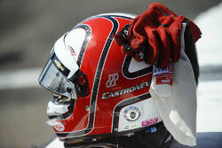 The helmet of Helio Castroneves, Team Penske Chevrolet
