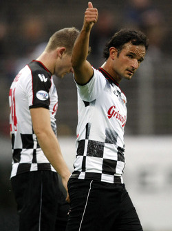 Nazionali Piloti vs. VIP football match: Vitantonio Liuzzi, Test Driver, Force India F1 Team
