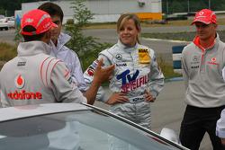 Lewis Hamilton, McLaren Mercedes and Susie Stoddart, Persson Motorsport AMG Mercedes and Heikki Kovalainen, McLaren Mercedes