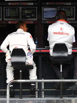 Lewis Hamilton, McLaren Mercedes and Ron Dennis, McLaren, Team Principal, Chairman