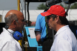 Bobby Rahal and Tony George talking