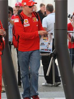 Kimi Raikkonen, Scuderia Ferrari arrives at the track at 10.30