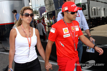 Feleipe Massa and his wife Rafaela