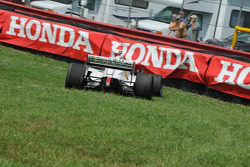 Graham Rahal on his slide