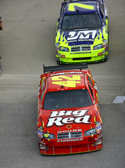 Juan Pablo Montoya and Robby Gordon