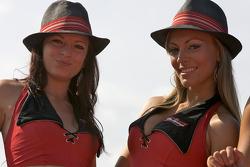 Budweiser girls on stage