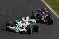 Rubens Barrichello, Honda Racing F1 Team, RA108 and Sebastian Vettel, Scuderia Toro Rosso, STR03