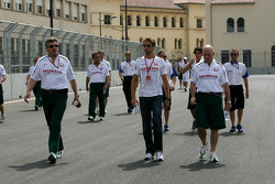 Jenson Button, Honda Racing F1 Team and Ross Brawn Team Principal, Honda Racing F1 Team