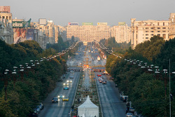 Parade in the City of Bucharest