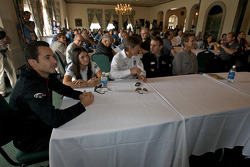 Detroit Grand Prix media lunch at the Detroit Yacht Club: Helio Castroneves, Danica Patrick, Adrian Fernandez, Timo Bernhard and Randy Pobst