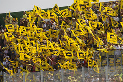 Fans show their appreciation for Valentino Rossi