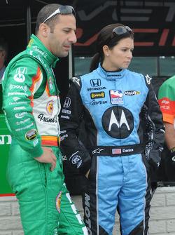 Tony Kanaan and Danica Patrick