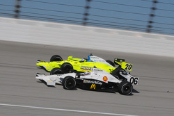 Graham Rahal and Ed Carpenter running together