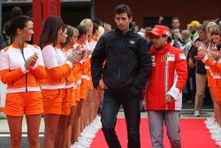 Mark Webber, Red Bull Racing and Felipe Massa, Scuderia Ferrari