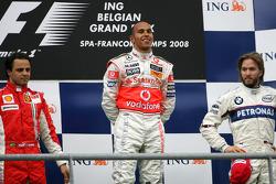 Podium: Lewis Hamilton, Felipe Massa, Nick Heidfeld
