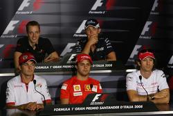 FIA press conference: Sébastien Bourdais, Scuderia Toro Rosso, Nico Rosberg, WilliamsF1 Team, Giancarlo Fisichella, Force India F1 Team, Felipe Massa, Scuderia Ferrari and Jarno Trulli, Toyota Racing