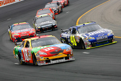 Kyle Busch and Jimmie Johnson lead the field