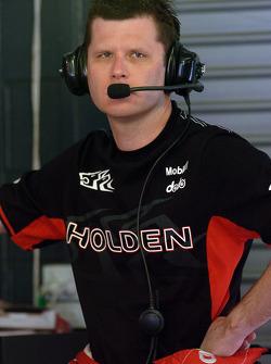 Garth Tander in the garage