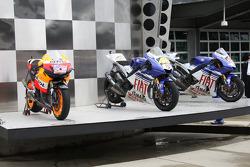 Las motos ganadoras de Valentino Rossi y Nicky Hayden, Jorge Lorenzo