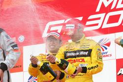 GT500 podium: class and overall winners Ronnie Quintarelli and Naoki Yokomizo
