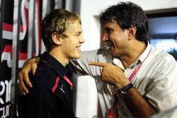 Sebastian Vettel and Pasquale Lattuneddu
