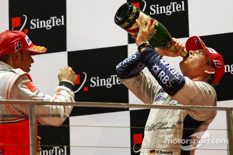 Podium: 2. Nico Rosberg; 3. Lewis Hamilton