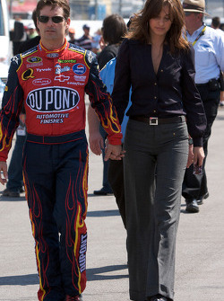 Jeff Gordon with his lovely wife Ingrid Vandebosch