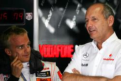 Heikki Kovalainen, McLaren Mercedes, Ron Dennis, McLaren, Team Principal, Chairman