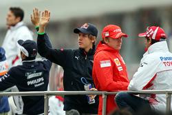Sebastian Vettel, Scuderia Toro Rosso at the driver parade