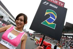 Grid girl, Felipe Massa, Scuderia Ferrari