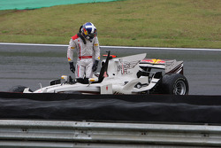 David Coulthard, Red Bull Racing crashed out of his last GP