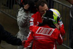 Race winner Felipe Massa and Stefano Domenicali