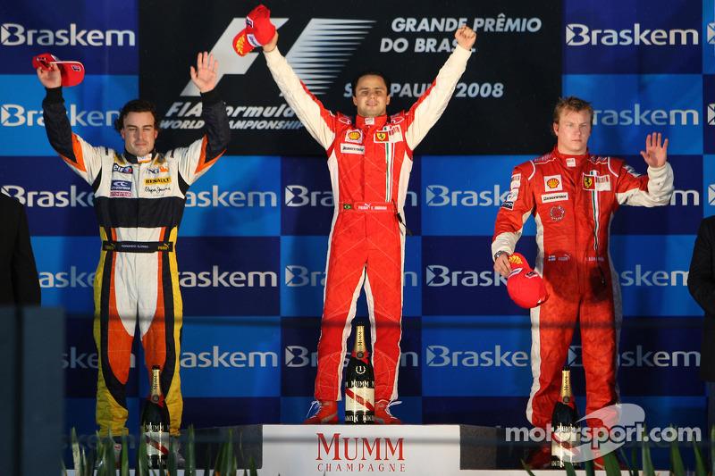Podium: 1. Felipe Massa, 2. Fernando Alonso, 3. Kimi Räikkönen