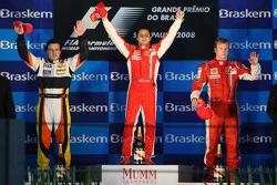 Felipe Massa, second place Fernando Alonso, third place Kimi Raikkonen