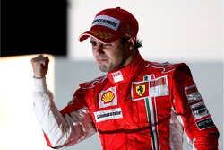 Podium: race winner Felipe Massa
