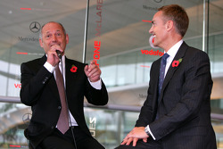 Ron Dennis and Martin Whitmarsh on stage