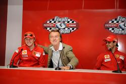Press conference: Kimi Raikkonen, Luca di Montezemolo and Felipe Massa
