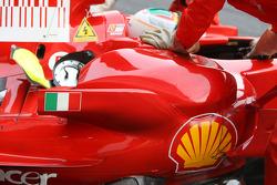 Luca Badoer, Test Driver, Scuderia Ferrari, running KERS, detail