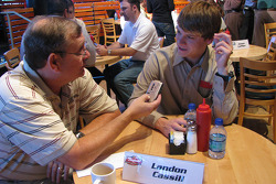 Raybestos Rookie of the Year Landon Cassill Friday at the ESPN Club at Walt Disney World
