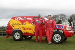 Team Dessoude presentation in Le Galicet: Jean-Pierre Strugo and Yves Ferri with the Nissan Pathfinder T2