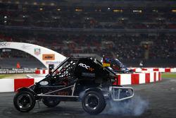 Quarter final, race 4: Sebastian Vettel smokes the rear tyres of an RX150 Buggy