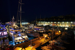 Monaco harbour at night