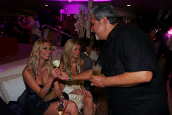 Dr Vijay Mallya Force India F1 Team Owner on the Fly Kingfisher boat party on the Indian Empress