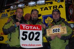 Ales Loprais, Vojtech Stajf and Milan Holan